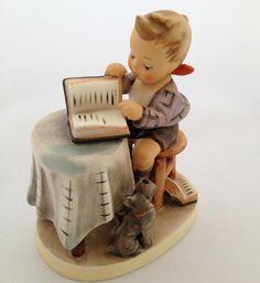 Hummel 306 Little Boy Bookkeeper Porcelain Figurine TMK6  $24.00 @Monet Tiedemann Tiedemann Court store @Michael Dussert Bonanza Marketplace