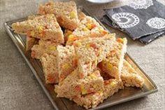 Candy Corn-Kraft Pumpkin Spice Marshmallow RICE KRISPIES® TREATS™