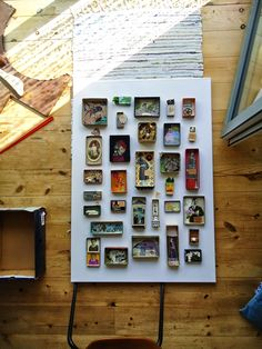 Art boxes.  Collages and/or assemblages in boxes that are lying around. Give it a try, then display all together for great impact.