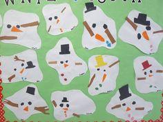 First Grade Blue Skies: Melted Snowman Bulletin Board & Freebie Pack