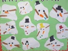 First Grade Blue Skies: Melted Snowman...so CUTE! I bet they can make one in Paint program too!