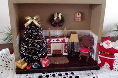 Mini sala de Natal - by L.F.