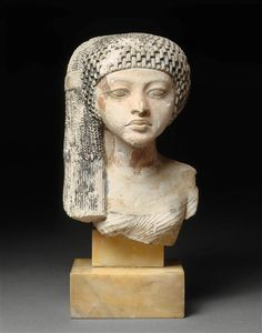 Princess of the Amarna period (possibly Meritaten, daughter of Pharaoh Akhenaten and Queen Nefertiti), made in Egypt c.1360-1350 BC.