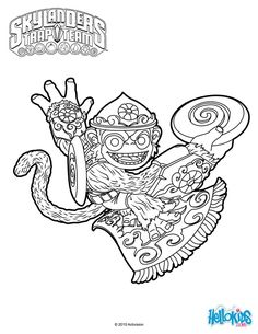 fling kong coloring page from skylanders trap team video game more video game coloring sheets