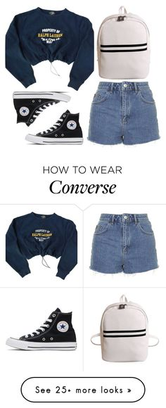 """""""property of no one"""" by redapplecigarettes on Polyvore featuring Polo Ralph Lauren, Topshop and Converse"""