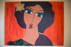 """Hinemoa Is the second piece in the """"Nina Muse Collection."""" A NZ Maori beauty with a moko or facial tatoo."""
