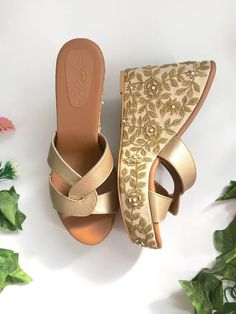 Soft Faux Leather Wedges in Cream and GoldSole House Soft Faux Leather Wedges in Cream and Gold Lulus Gold Bridal Shoes, Bridal Shoes Wedges, Bridal Sandals, Bow Sandals, Wedding Shoes, Leather Wedges, Leather Heels, Melissa Shoes, Shoes With Jeans