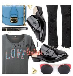 """""""Patent Leather Love"""" by stacey-lynne ❤ liked on Polyvore featuring Alexander Wang, Miu Miu, RetroSuperFuture, French Connection, Nina Ricci and ZoÃ« Chicco"""
