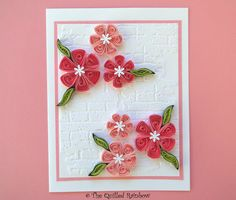 Quilled Flowers Card Paper Quilling Handmade by TheQuilledRainbow