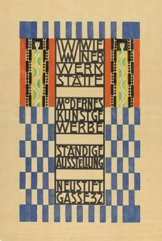 Poster by Koloman Moser, 1905, Opening of Wiener Werkstätte Showroom.