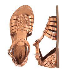 J.Crew - Girls' metallic gladiator sandals