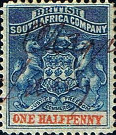 Rhodesia 1892 British South Africa Company SG 18 Fine Used Scott 1  Other Rhodesian Stamps HERE