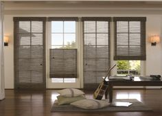 Woven Wood Shades with adjustable top-down bottom-up feature. http://www.budgetblinds.com/window-shades/woven-wood-shades/#