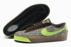 a4067a9ab1ed9 nike blazer shoes Women Nike Blazer Low Plaid Brown Green  Women Nike  Blazer Low - The Women Nike Blazer Low Plaid Brown Green shoes are  constructed from ...