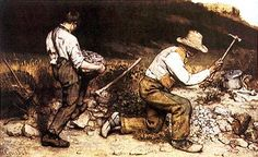 GLI SPACCAPIETRE Coubert- 1849- olio su tela- opera distrutta già Gemäldegalerie Alte Meister, Dresda