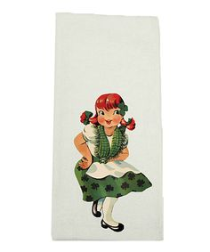 Another great find on #zulily! Dancing Clover Girl Kitchen Towel by Love you a Latte #zulilyfinds