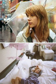 Lost in Translation // transparent umbrellas & pink flower deco // Charlotte: I tried taking pictures, but they were so mediocre. I guess every girl goes through a photography phase. You know, horses... taking pictures of your feet.