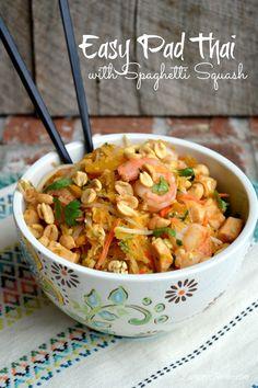 » Easy Pad Thai {with Spaghetti Squash} Lemony Thyme