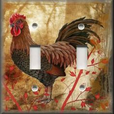 Rooster Decor | Light Switch Plate Cover Country Rooster Kitchen Decor | eBay