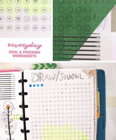 by goals and daily habit templates by Ahhh Design Printable Planner Pages, Planner Template, Printables, Small Planner, Planner Ideas, New Year Post, Goals Worksheet, Arc Notebook, Silhouette Cameo Tutorials