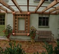 Cedar and Copper Trellis