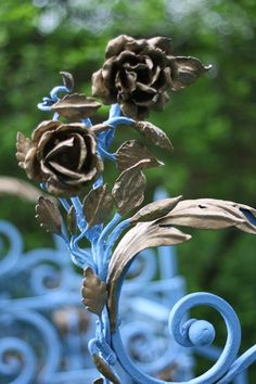 """gilded roses with whimsical blue stems…"" from French Kissed"