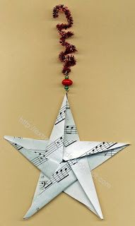 Extreme Cards and Papercrafting: Sheet Music Origami Star