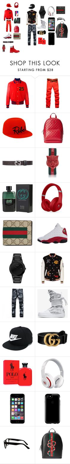 """red vs black"" by britteneyhall ❤ liked on Polyvore featuring Timberland, Gucci, Eugenia Kim, Beats by Dr. Dre, NIKE, Citizen, Kenzo, Ralph Lauren, Off-White and Speck"