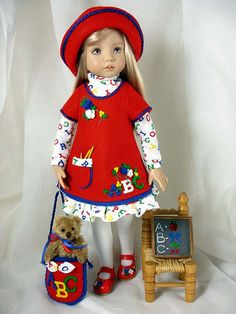 Primary A*B*Cs - for Effner Little Darlings by Dress*Ups by pj, via Flickr