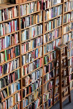 shelves as a way to pile books on the wall.