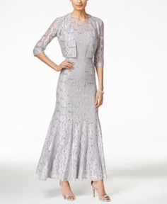 Alex Evenings Sequin Lace Mermaid Gown and Jacket $239.00 AT vintagedancer.com