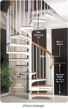 Standard residential staircase dimensions google search for 8 foot spiral staircase
