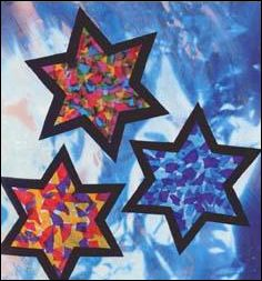 Stained Tissue Stars craft for kids. Hanging in a window, the stained tissue stars produces a dramatic effect. Even a four year old child can do this . Preschool Christmas, Christmas Activities, Christmas Crafts For Kids, Kids Christmas, Holiday Crafts, Christmas Decorations, Christmas Ornaments, Hanukkah Crafts, Vbs Crafts