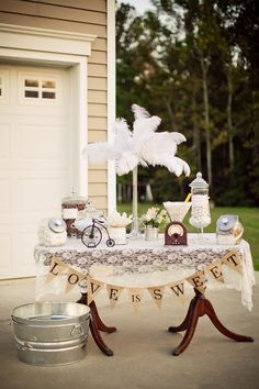 Vintage wedding table decoration ideas burlap and lace vintage wedding ideas burlap lace wedding table decor . 1920s Wedding, Chic Wedding, Rustic Wedding, Our Wedding, Dream Wedding, Wedding Ideas, Wedding Blog, Wedding Crafts, Wedding Vintage