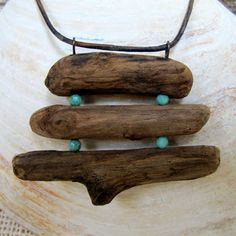 Shop Elle Jay Jewelry for original and one-of-a-kind driftwood jewelry! Driftwood Jewelry, Sea Jewelry, Driftwood Projects, Driftwood Art, Wooden Jewelry, Jewelry Crafts, Beaded Jewelry, Jewelry Necklaces, Survivor Necklace