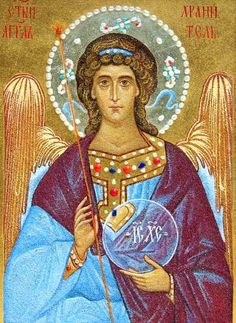 The Guardian Angel, $660.00, catalog of St Elisabeth Convent. #catalogofgooddeed #icon #angel #guardian - Icon is made by a crushed stone technique.