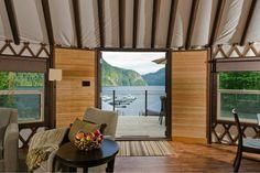 Beautiful yurt interior