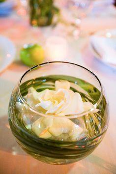 Flowers, Reception, White, Green, Centerpiece