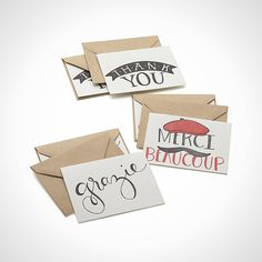 Say thank you with these hand-illustrated cards.