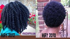 An amazing 2 Years of growth!!  I'd love for my hair to get like the May 2012 photo. That twist out is perfect!