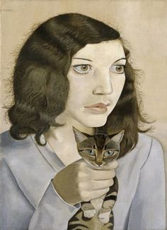 By Lucian Freud (1922‑2011), 1947, Girl with a Kitten. Tate