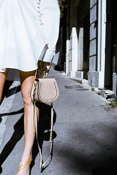 parlourx Meet the perfect (long) weekend bag: Chloe's Small Nile bag. New colours and styles - hello, patent leather! - now in-store online. Chloe Nile Bag, Chloe Bag, Medium Bags, Cloth Bags, Fashion Bags, Fashion Outfits, Spring Summer Fashion, Saddle Bags, Bag Accessories