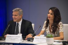 JIM WATSON/AFP/Getty Images Amal Clooney had a life long before she met George Clooney. As a result of George's international fame, Amal became somewhat of a celebrity in her own right. But the human rights lawyer, who is expecting Read more . Amal Clooney, George Clooney, Human Rights Lawyer, Kate Middleton Dress, Couple Moments, Brad Pitt And Angelina Jolie, Butterfly Dress, Skull Print, Cute Couples