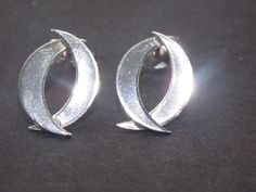 925 sterling silver entwined crescent earings
