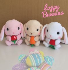 """Cute fluffy soft rabbit plushies from Japan! """"Poteusa floppy plump and pink cheek to cheek, lop-eared rabbit is cute ♪ from small children to adults, it is very popular characters have been loved widely.""""Choose from 3 designs...White (Floppy)  Pink (Mimipyon)Brown (Chappy) H14 × W12 × D10cmClaw Grabby Store!"""