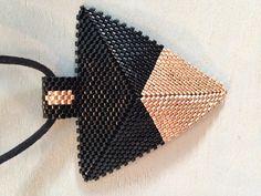 Items similar to Miyuki Necklace-Geometric -Triangle pendant - Colorful miyuki pendant - Elegant pendant on Etsy Peyote Beading Patterns, Loom Beading, Seed Bead Projects, Diy Jewelry Inspiration, Bead Loom Bracelets, Seed Bead Necklace, Beading Tutorials, How To Make Beads, Crystals