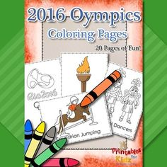 Rio Olympics themed coloring pages. You will get 20 pages with the following images: - archery - basketball - cycling - carnival dancers - diving - equestrian jumping - fencing - Brazilian flag - golf - gymnastics - Rio logo - rowing - running - Samodromo festival - soccer - Christ the Redeemer