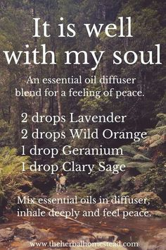 It's well with my soul diffuser blend