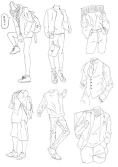 ideas drawing poses male anime character design references for 2019 Body Drawing, Manga Drawing, Drawing Sketches, Drawings, Drawing Poses Male, Drawing Reference Poses, Drawing Anime Clothes, Clothing Sketches, Poses References