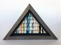 Small Triangle Stud Earring/Ring Organizer, Stud Earring Holder, Earring Organizer, Home Decor, Jewelry Display by JMKPracticalDesigns on Etsy